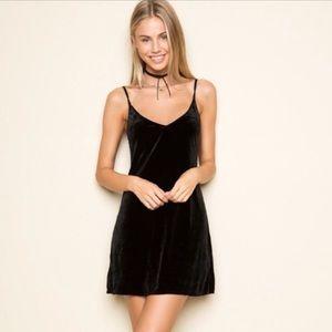 Brandy Melville black velvet dress